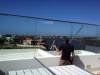 Roof top glass fencing
