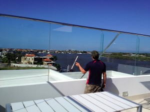 Window cleaning at the Sovereign Islands