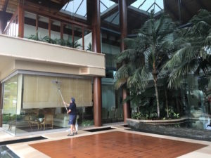 Window cleaning at exclusive Isle of Capri address near Surfers Paradise